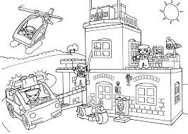 Lego Police Coloring Page For Kids Printable Free Lego Duplo Do