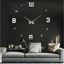 special large diy 3d wall clock living room acrylic mirror self adserve stickers modern design home decor for kids love wall stickers make your own wall
