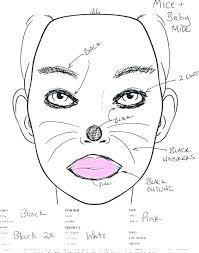 makeup artist template free co face chart