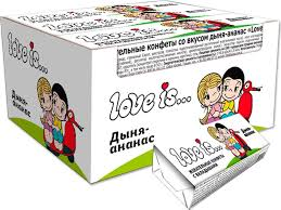"<b>Love is</b> ""Дыня-ананас"" жевательные <b>конфеты</b>, 300 г (12 шт ..."
