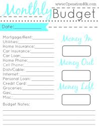 029 Simple Budget Template Printable Ideas Family Worksheet
