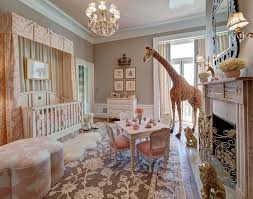 crib with pink valance and curtains