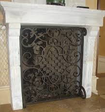 Unique fireplace screens Ideas Custom Fireplace Screens Fireplace Accessories Noble Forge Hand Forged Custom Fireplace Screens Noble Forge