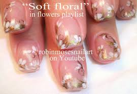 Nail Art Designs - Soft Floral Nail Art - Easy Fast Flower Nails