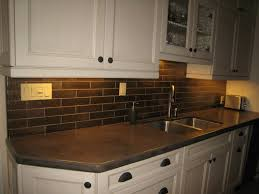 Large Tile Kitchen Backsplash Kitchen Backsplash Ideas White Cabinets Brown Countertop
