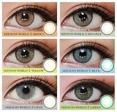 Studious Fresh Look Colored Contact Lenses Chart Colored