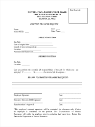 Transfer Request Form 24 Job Transfer Forms Free Sample Example Format Download 3