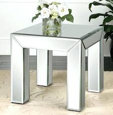 glass mirror end tables coffee