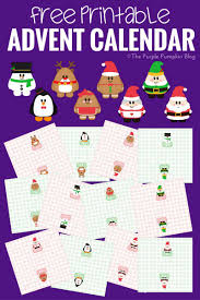 Free Printable Advent Calendar. Print out, and assemble the cones. Fill  with treats