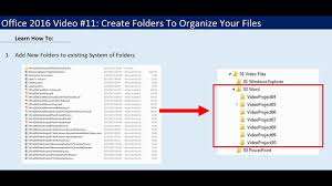 Office 2016 Video 11 Create Folders To Organize Your Files