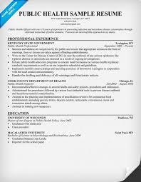public health nurse resume objectives - Sample Public Health Resume