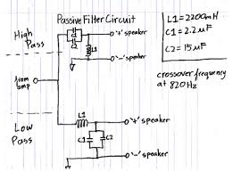 build your own ipod mp3 mini speaker system passive filter circuit