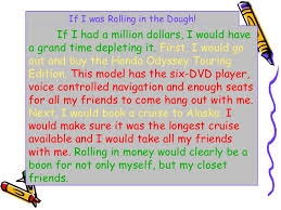 being funny is tough if i had a million dollars essay essay on if i had a million dollars atone81 com