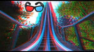 3D Roller Coaster VIDEO 3D ANAGLYPH RED/CYAN Full HD 1080p POV Ride ...