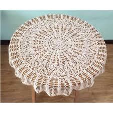 designer handmade crochet tablecloth size 36 inch