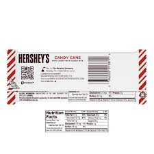 amazon hershey s candy cane white chocolate flavored crème with mint candy bits individually wrapped chocolate bar in holiday packaging
