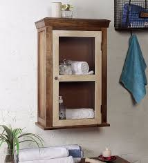 mango wood wall cabinet in white colour