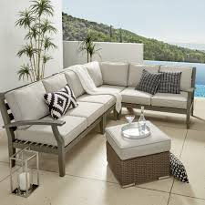 Yasawa Modern Outdoor Cushioned Wood Sectional - Grey iNSPIRE Q Oasis -  Free Shipping Today - Overstock.com - 20163613