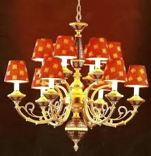 chandeliers light shades red makes a statement a chandelier lamp shades argos