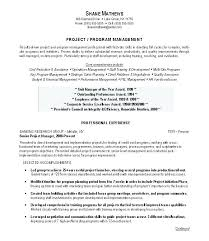 Sample Project Manager Resume Objective Project Management Resume Sample Luxsosme 24