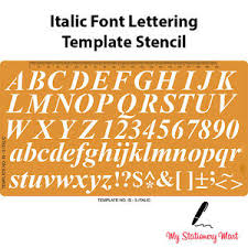 Lettering Templates Details About Lettering Stencils Alphabet Number Template Craft Shapes English Italic Font