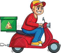 pizza delivery clipart. Brilliant Delivery Pizza Delivery Guy Driving Scooter PNG  JPG And Vector EPS Infinitely  Scalable On Delivery Clipart Z