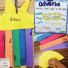 Adverb Anchor Chart 2nd Grade Adverbs Anchor Charts And A Giveaway For The Love Of