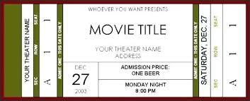 Ticket Template Word Raffle Ticket Template Excel Movie Ticket