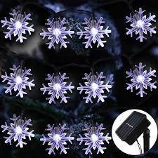 Snowflake Solar Christmas Lights Amazon Com Zalalova Christmas Snowflake String Lights 23