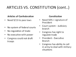 essay on articles of confederation and constitution articles vs confederation essays