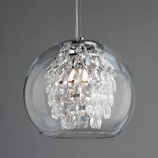glass globe pendant lighting. Glass Globe And Crystal Pendant Light Polished_nickel Lighting -