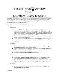 Lit Review Example Apa Literature Review Apa Outline Mwb Online Co