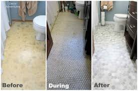 cheap bathroom makeover.  Makeover Affordable Flooring Before During After With Cheap Bathroom Makeovers For Cheap Bathroom Makeover R