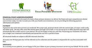 Stonebridge Ranch Dentistry Mckinney Tx | Paperwork