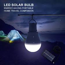 Portable Solar Panel Powered 15w Led Bulb Light Outdoor Camping Tent