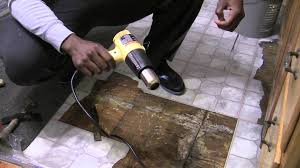 how to remove vinyl sticky tiles