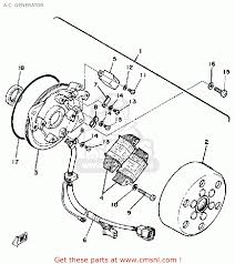 Yamaha sr250 side back · a c generator schematic