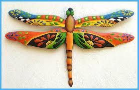 dragonfly metal art painted metal