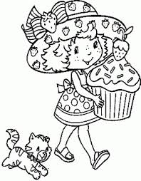 Coloring Pages Strawberry Shortcake intended for Inviting - Cool ...