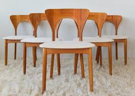 koefoeds hornslet peter danish teak dining chairs set of 6 on etsy