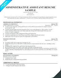 Sample Resume For Administrative Assistant Position | Nfcnbarroom.com