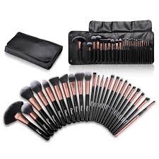 details about ovonni 24pcs makeup brush set powder foundation eyeshadow eyeliner brushes case