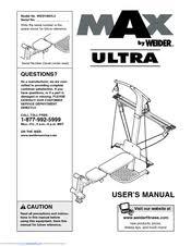 Weider Max Ultra Exercise Chart Weider Max Ultra Manuals