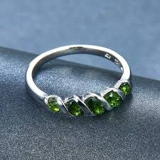 chrome jewelry sets for women solid sterling silver gemstone pendant earrings ring diopside