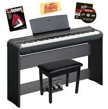 Musical Furniture Amazoncom Yamaha P 105 Digital Piano Bundle With Gearlux