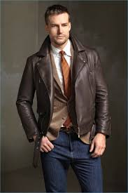 preppy style meets a cool aesthetic with smart tailoring jeans and a brown leather