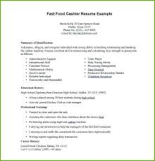 Excel Resume Examples Grocery Cashier Resume Wikirian Com