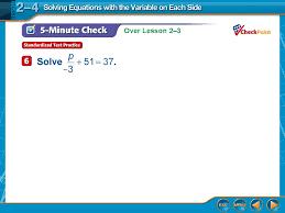 7 over lesson 2 3 5 minute check 5