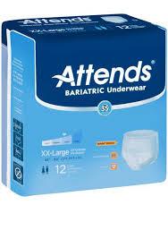 Attends Bariatric Underwear Xxl Heavy Absorbency