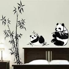 pandas eating bamboo vinyl wall sticker on panda wall art uk with pandas eating bamboo vinyl wall sticker by wallstudios uk